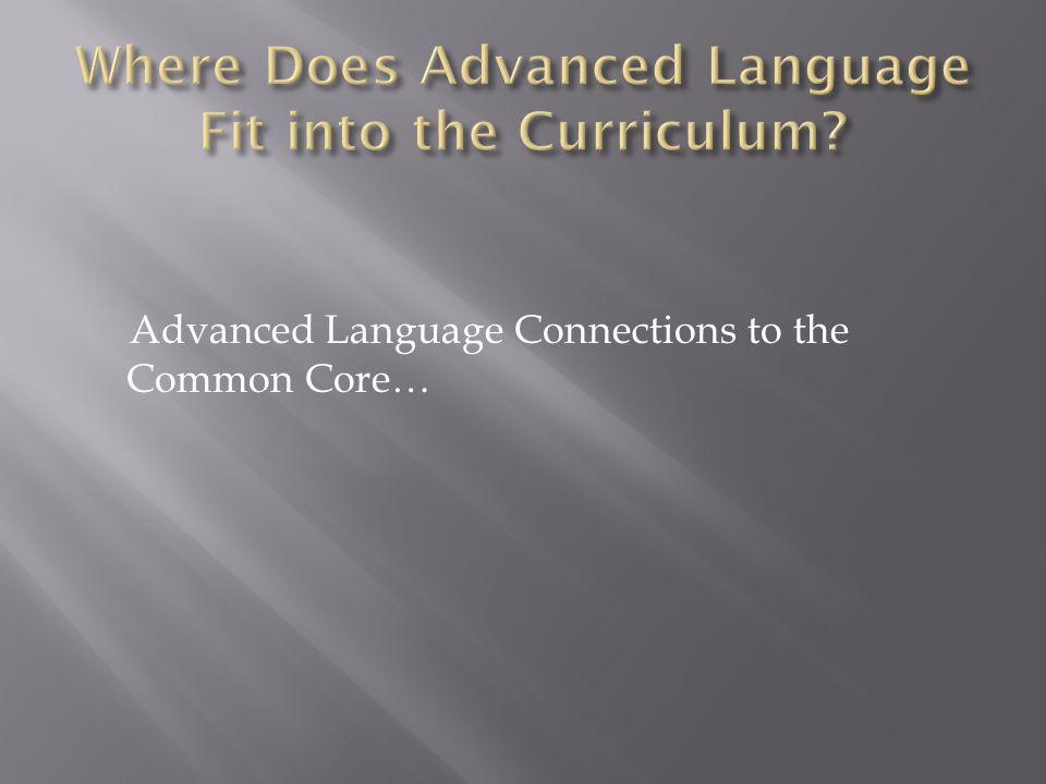 Kindergarten First GradeSecond GradeAdvanced Language Connection RL.
