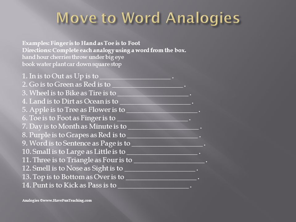  Think Analogies by: Critical Thinking Co.