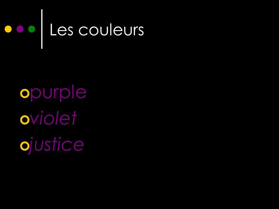 Les couleurs purple violet justice