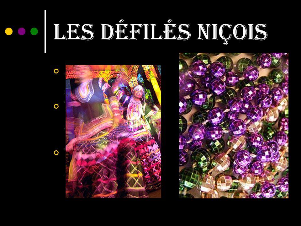 Les défilés niçois Another type of parade is les batailles des fleurs.