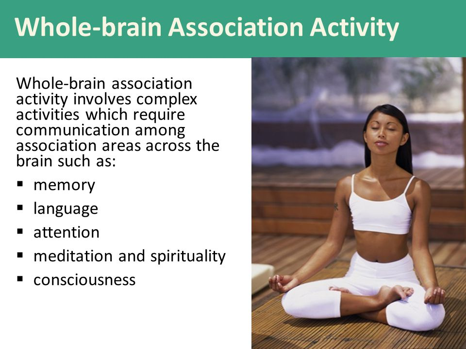 Whole-brain Association Activity Whole-brain association activity involves complex activities which require communication among association areas acro