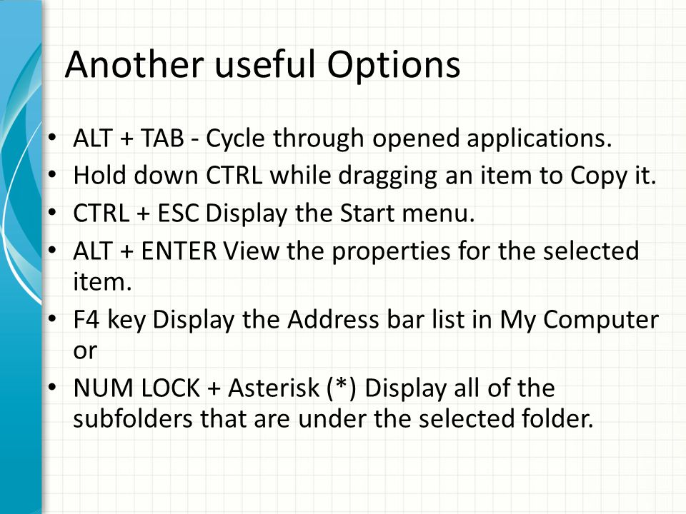 Lock Windows to protect computer You can lock Windows to protect the computer when leaving the station easily by creating a shortcut with the path rundll32.exeuser32.dll, LockWorkStation.