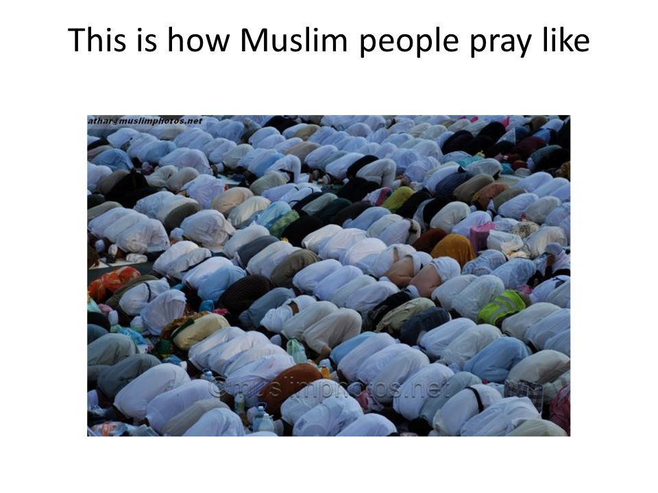 This is how Muslim people pray like