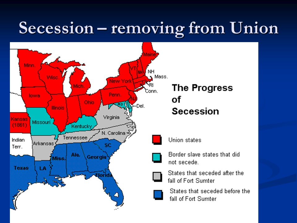 Secession – removing from Union
