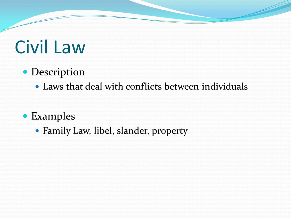 Which type of law is represented by the Americans with Disability Act.