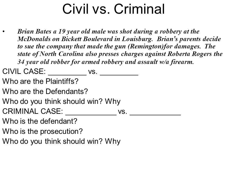 Civil vs.