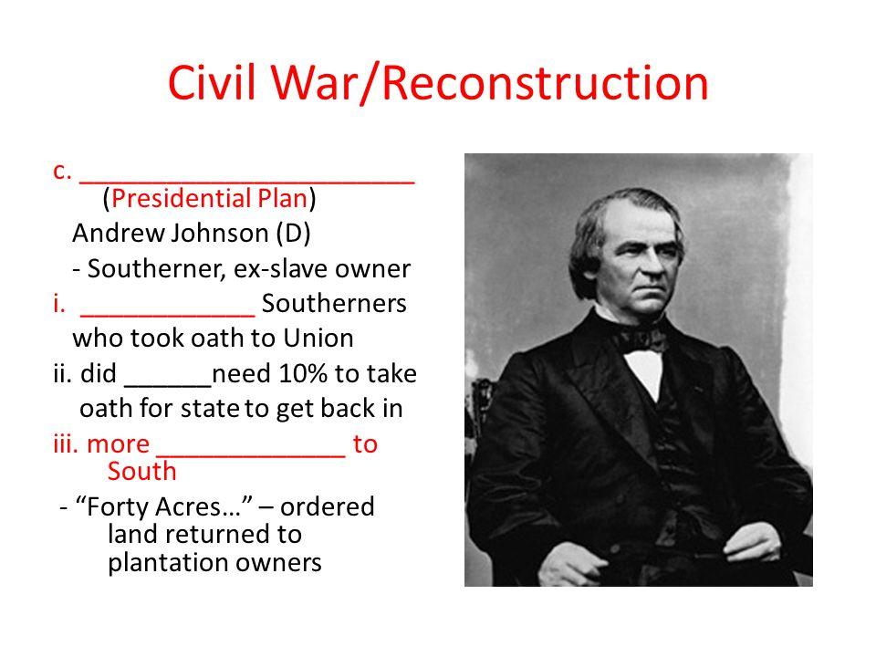 Civil War/Reconstruction c.