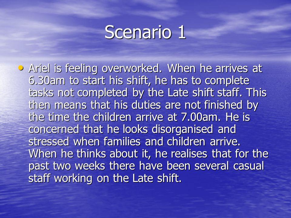 Scenario 1 Ariel is feeling overworked.