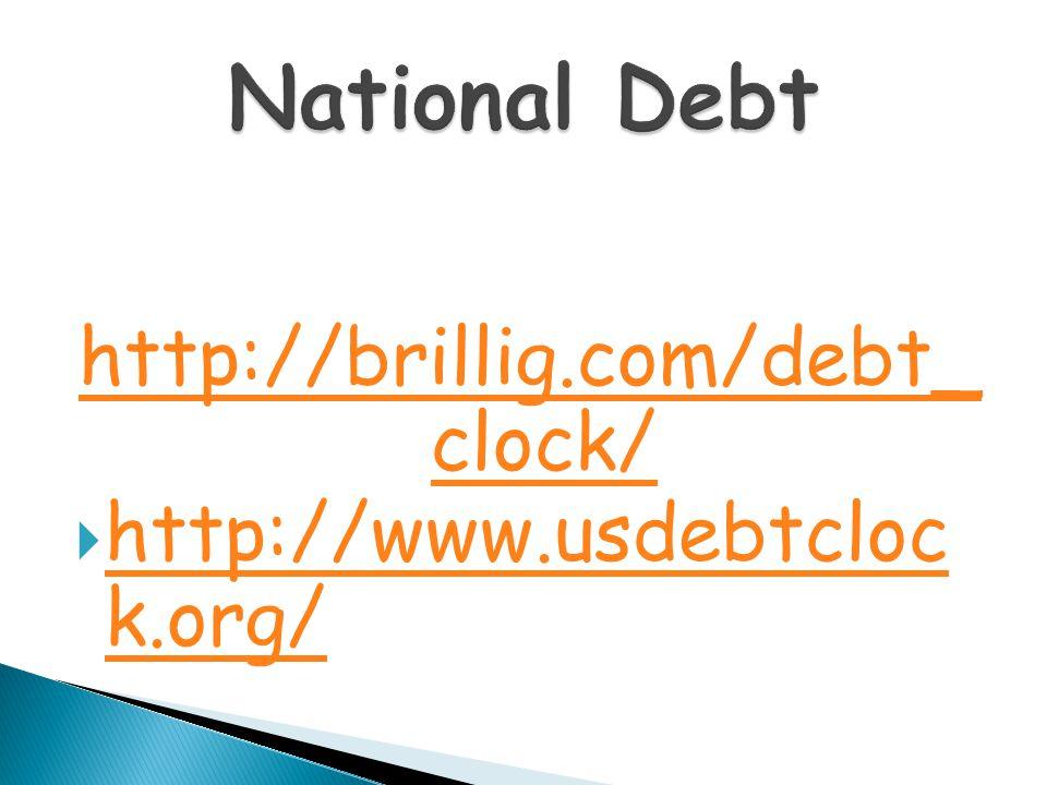 http://brillig.com/debt_ clock/  http://www.usdebtcloc k.org/ http://www.usdebtcloc k.org/