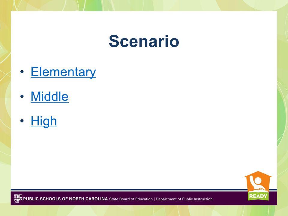 Scenario Elementary Middle High