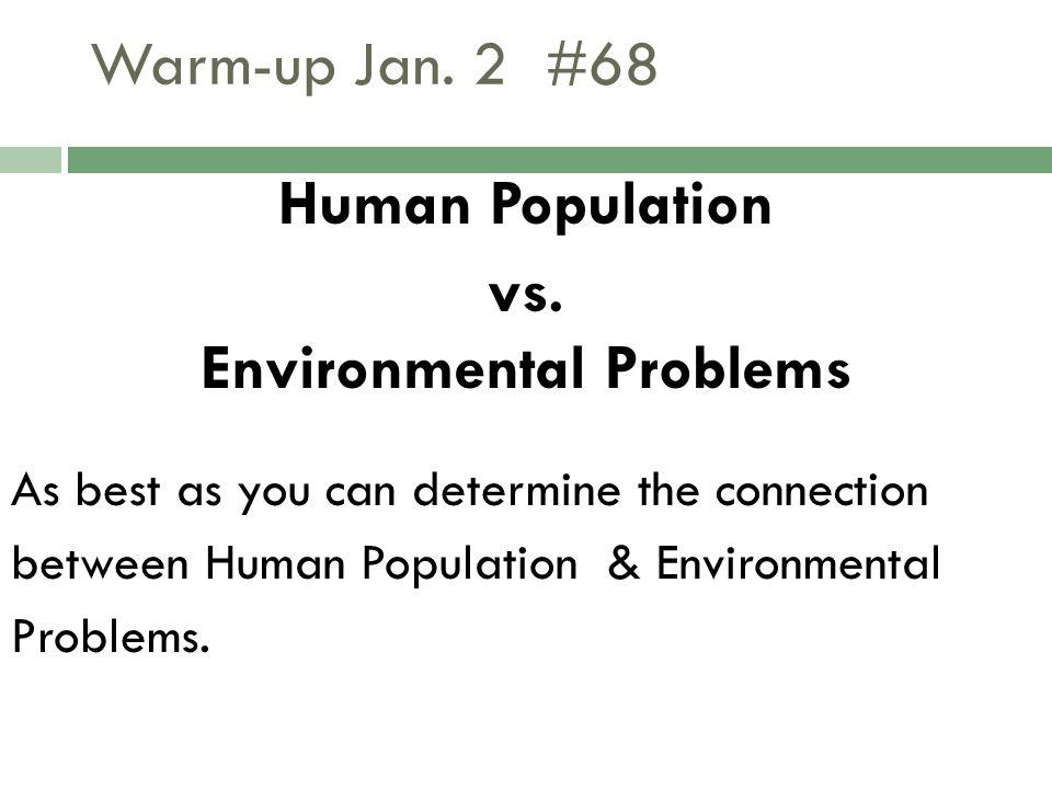 Warm-up Jan.2 #68 Human Population vs.