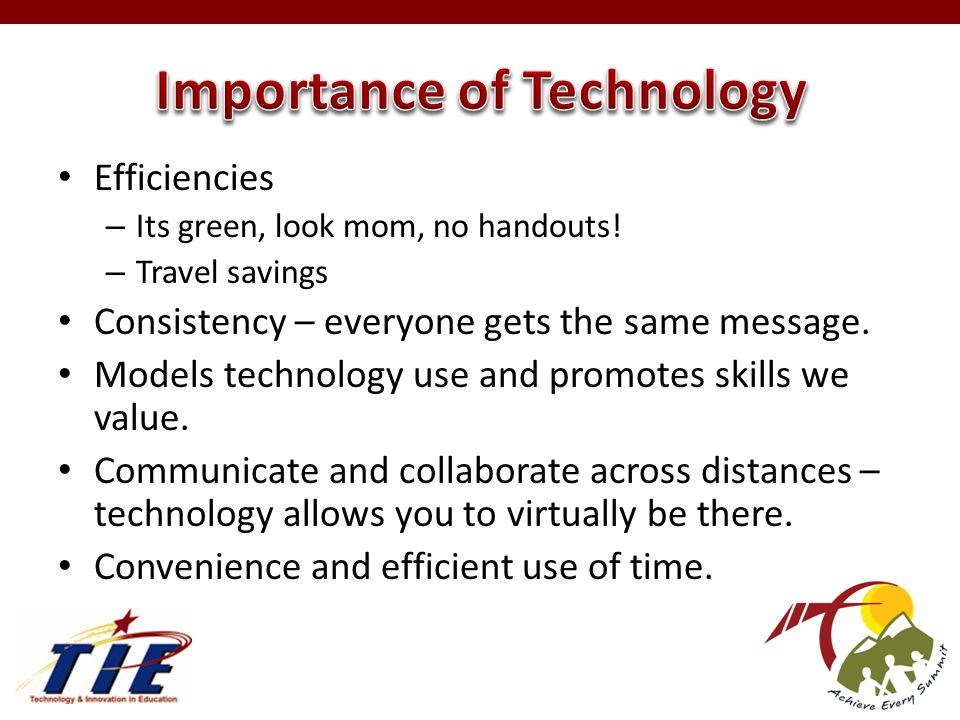 Efficiencies – Its green, look mom, no handouts.