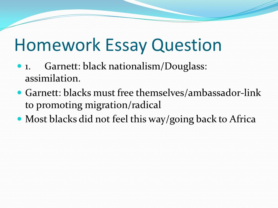 essay question on slavery