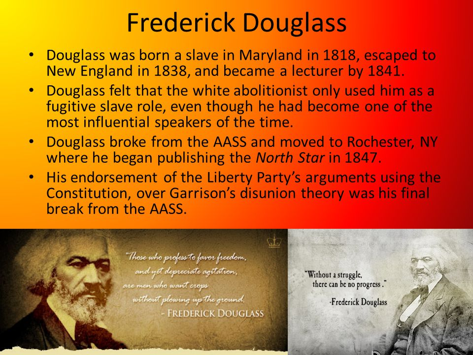 Revival of Black Nationalism Douglass was a firm believer in integration.