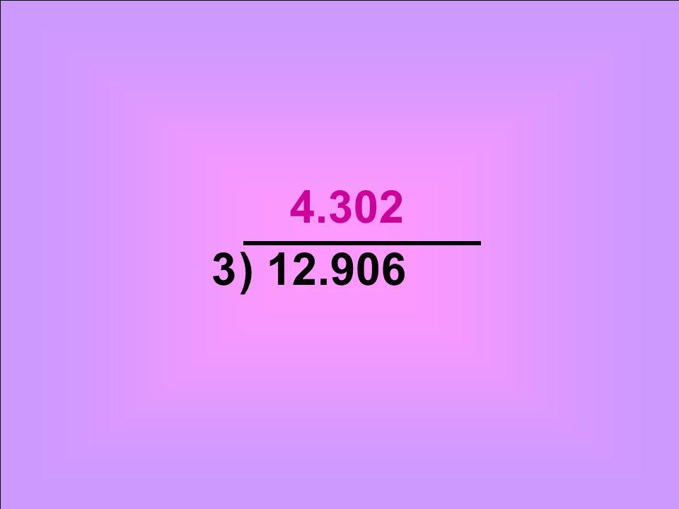 ) 12.9063 4.302