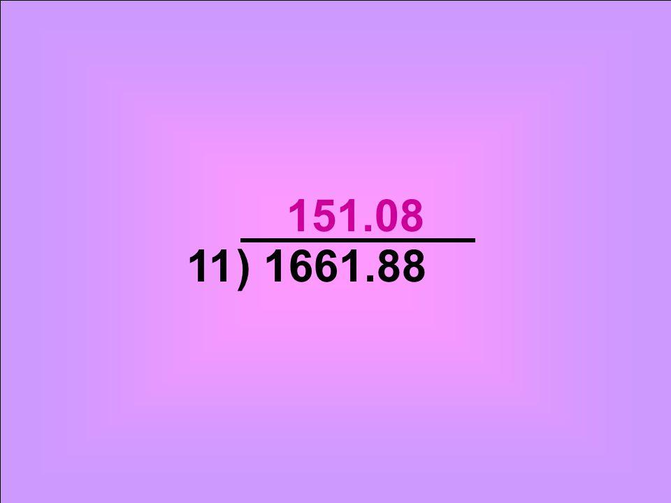) 1661.8811 151.08