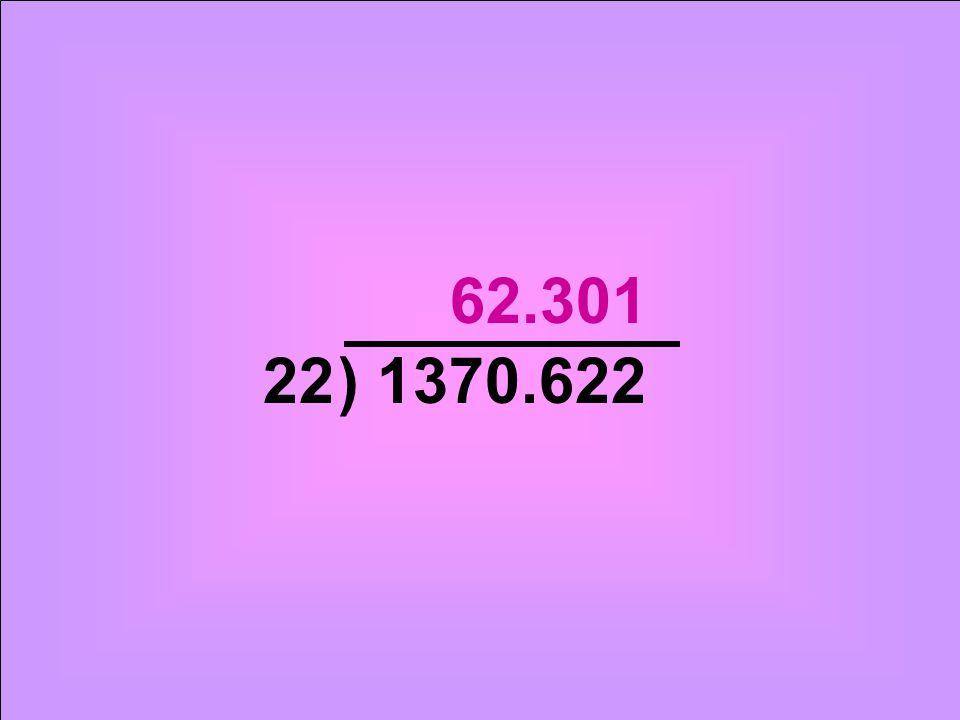 ) 1370.62222 62.301