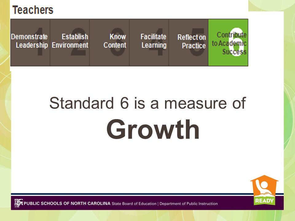 Standard 6 is a measure of Growth