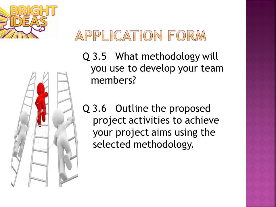 Q 3.5 What methodology will you use to develop your team members.
