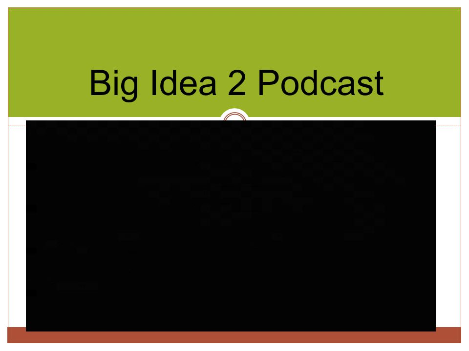 Big Idea 2 Podcast