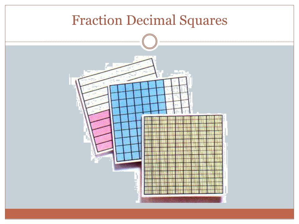 Fraction Decimal Squares