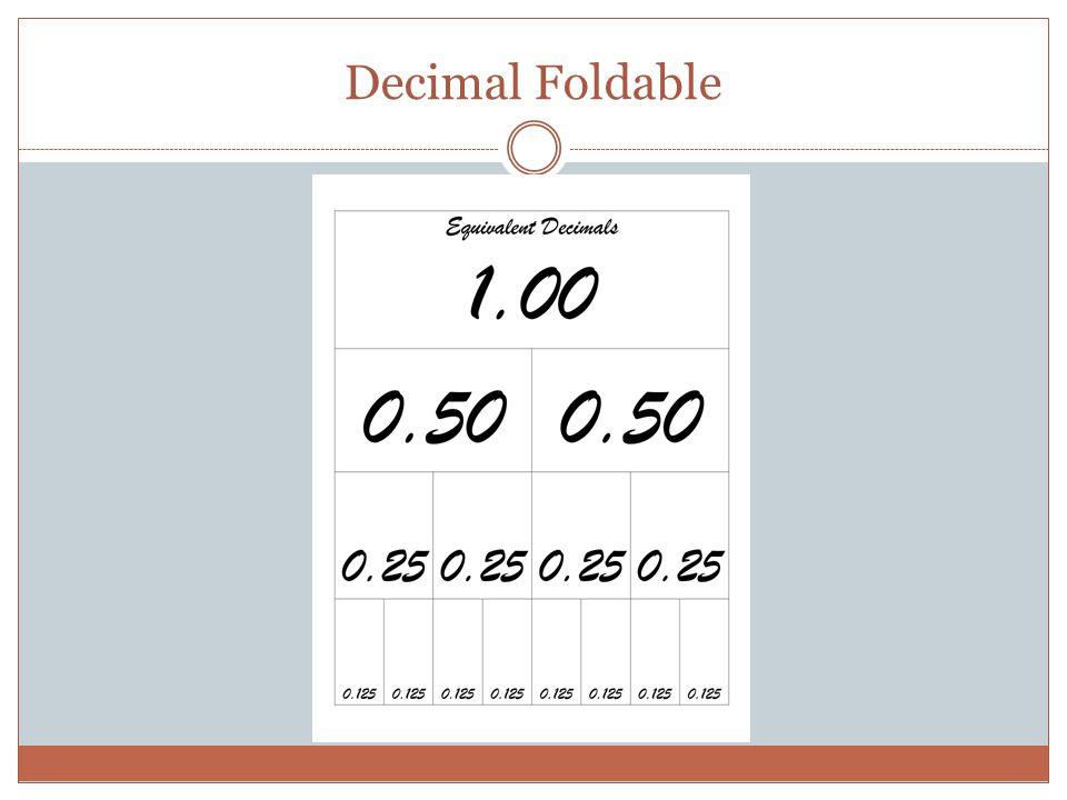 Decimal Foldable