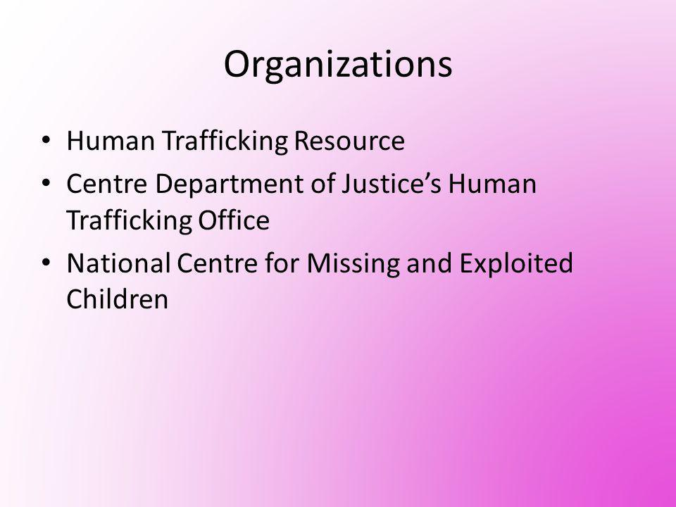 International Organization The Office to Monitor and Combat Trafficking was created – Provides millions of dollars to make sure that the organization is spread world wide – Helps people also by economically by programs for those people who has high risk of being trafficked.