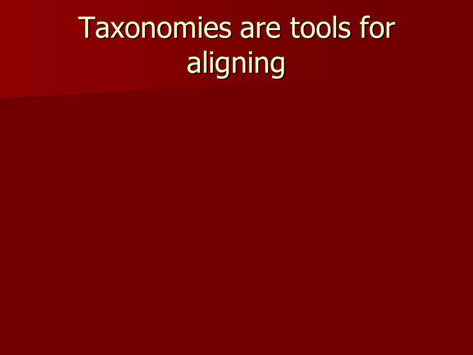 Taxonomies are tools for aligning