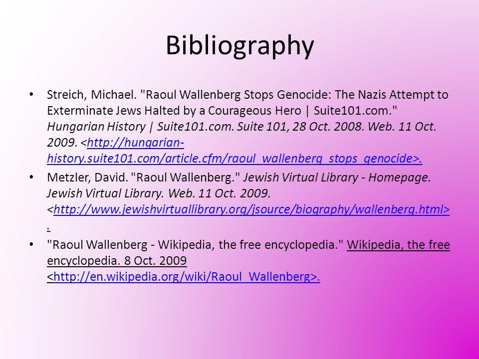 Bibliography Streich, Michael.