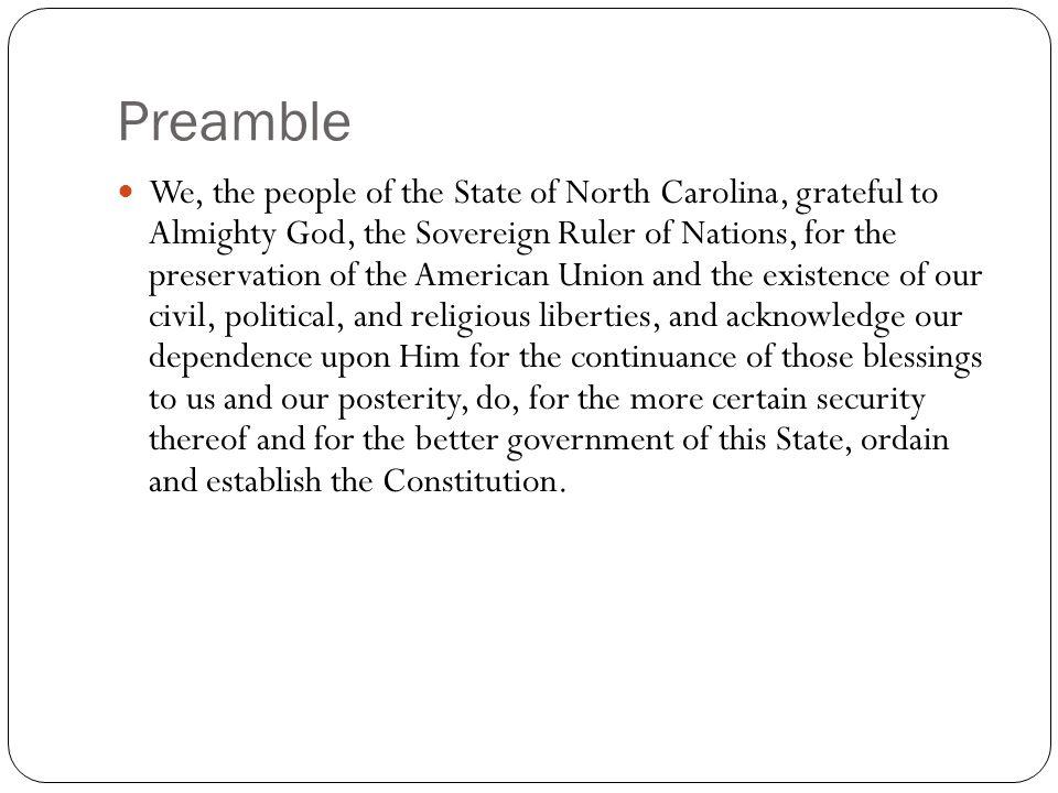 Articles I.Declaration of Rights II. Legislative III.