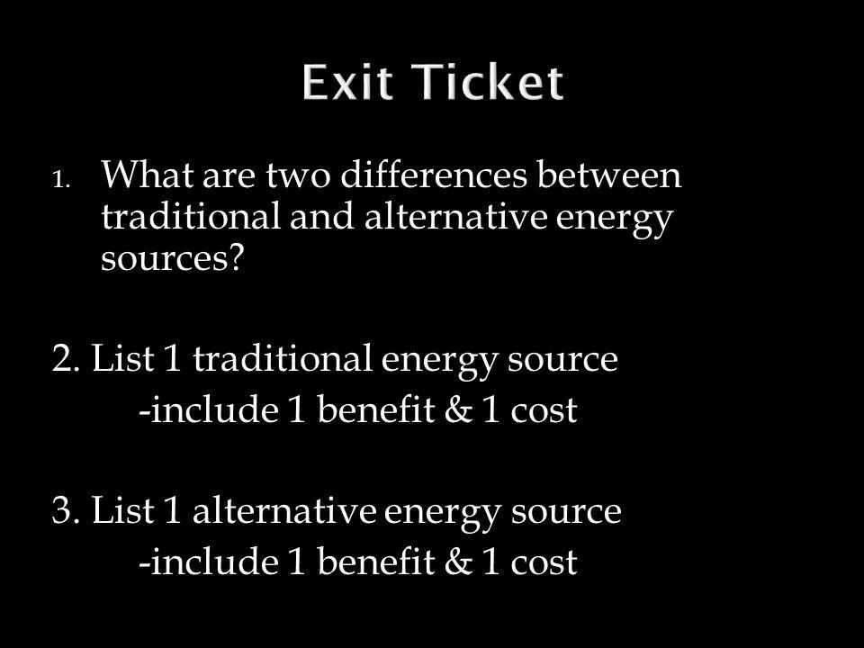 SWBAT evaluate sources of alternate energy in North Carolina