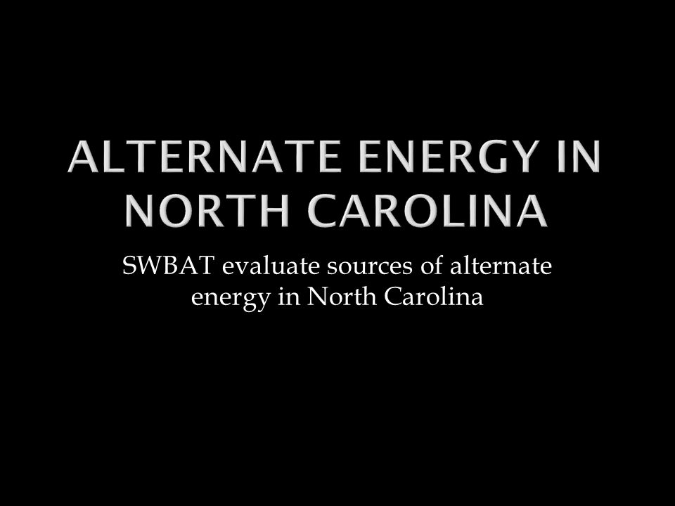 NNC is one of just a few states in the US that has a legislative renewable energy mandate.