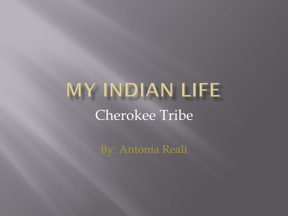 Cherokee Tribe By: Antonia Reali