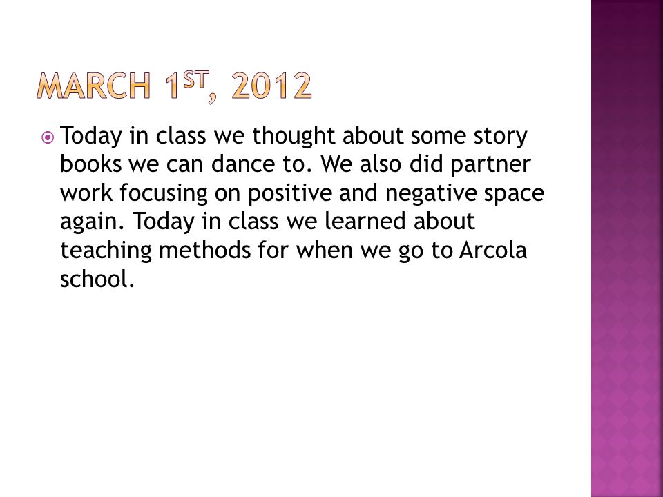  Today in class we thought about some story books we can dance to.
