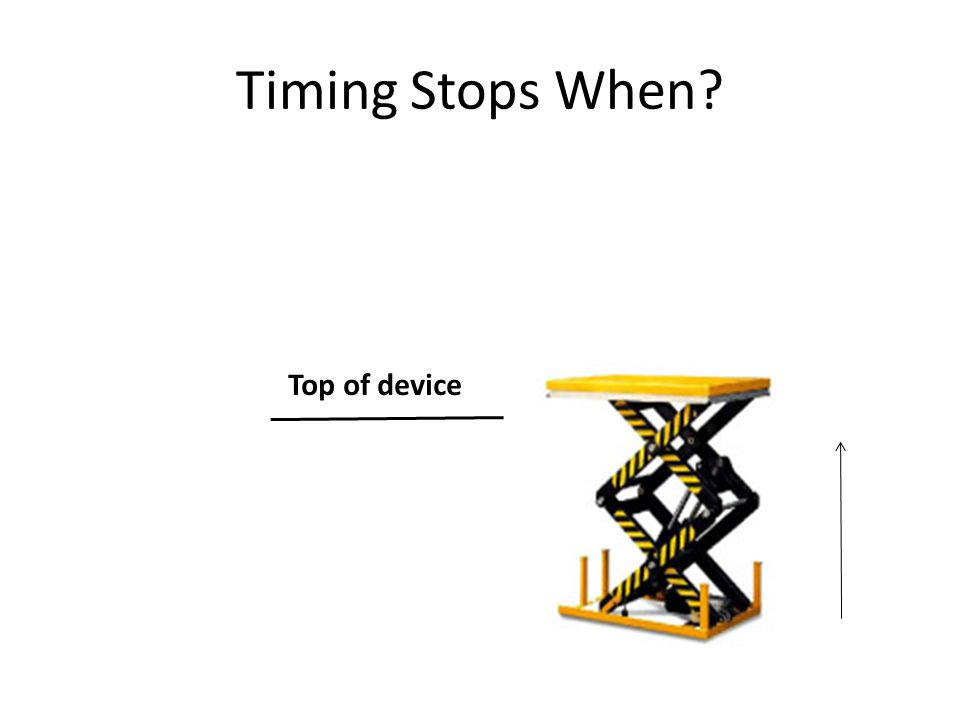 Timing Stops When? Top of device
