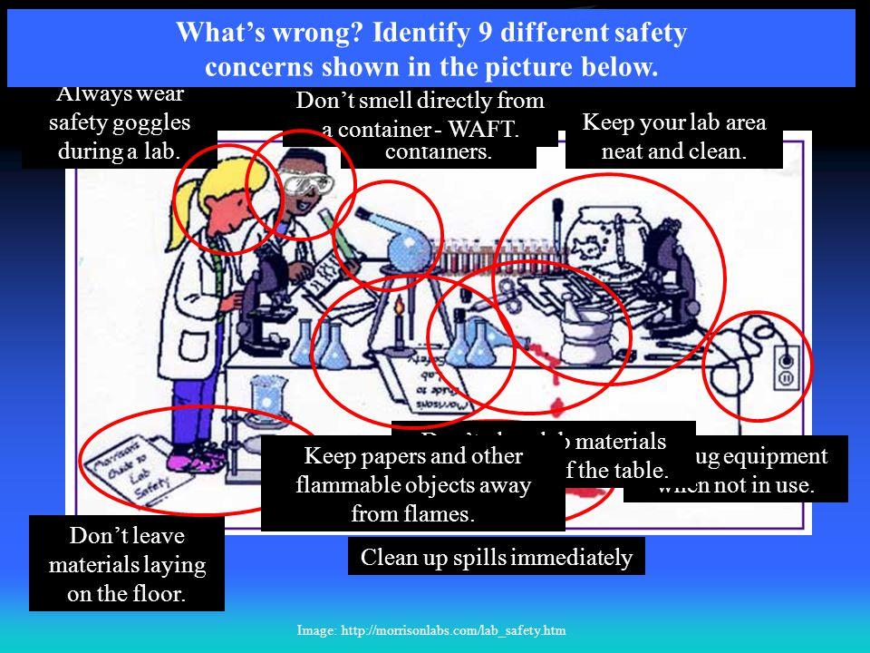 Lab Safety Challenge #2 T. Trimpe 2008 http://sciencespot.net/