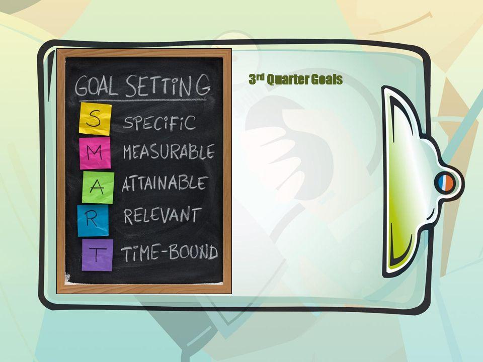 3 rd Quarter Goals