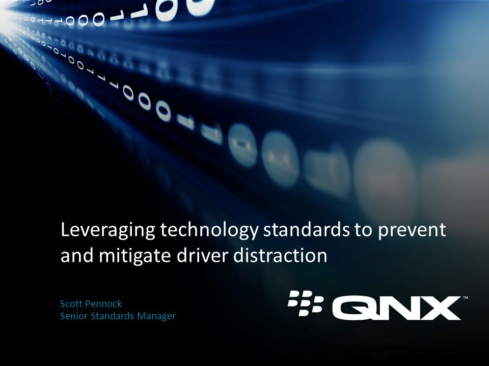 Confidential Information of QNX Software Systems Limited 2 Outline The problem A comprehensive solution Barriers Strategies for today and tomorrow Conclusions
