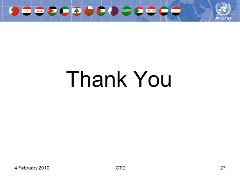 Thank You 4 February 2010ICTD27