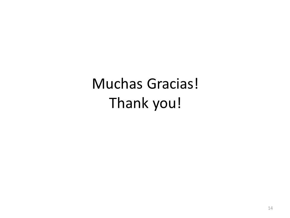 Muchas Gracias! Thank you! 14