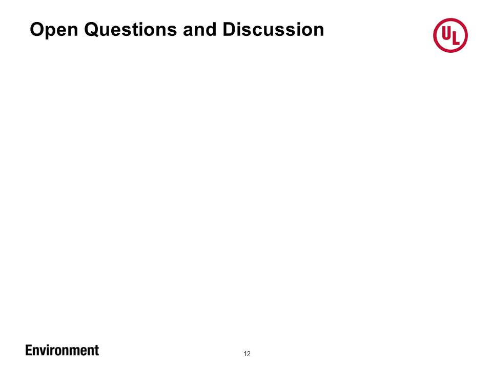 Open Questions and Discussion 12