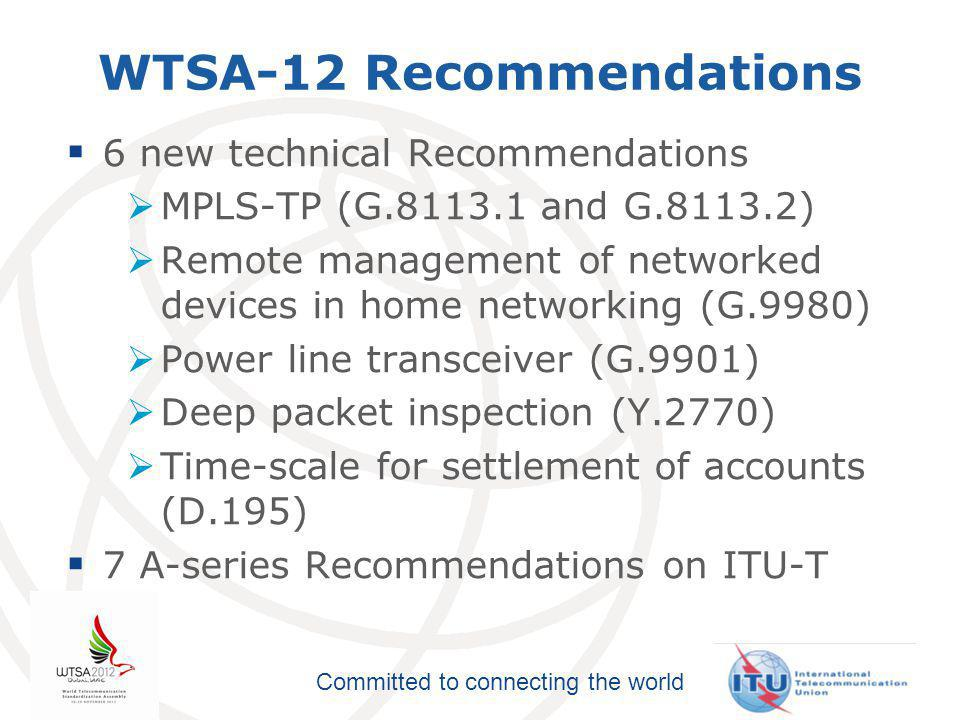 Committed to connecting the world New Opinion 1 Practical application of network externality premium  considering the progress achieved … those Member States concerned may wish to … possibly withdraw the reservations about Recommendation ITU-T D.156, Network externalities,  Member States to implement Recommendation ITU-T D.156,  Council to report on this subject to PP 2014.