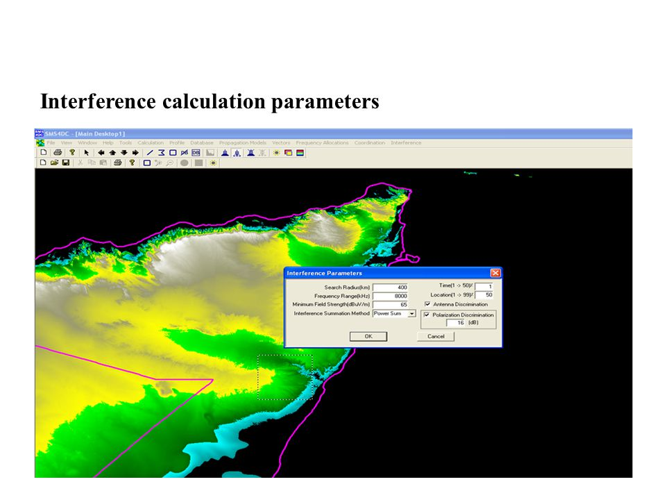 Interference calculation parameters