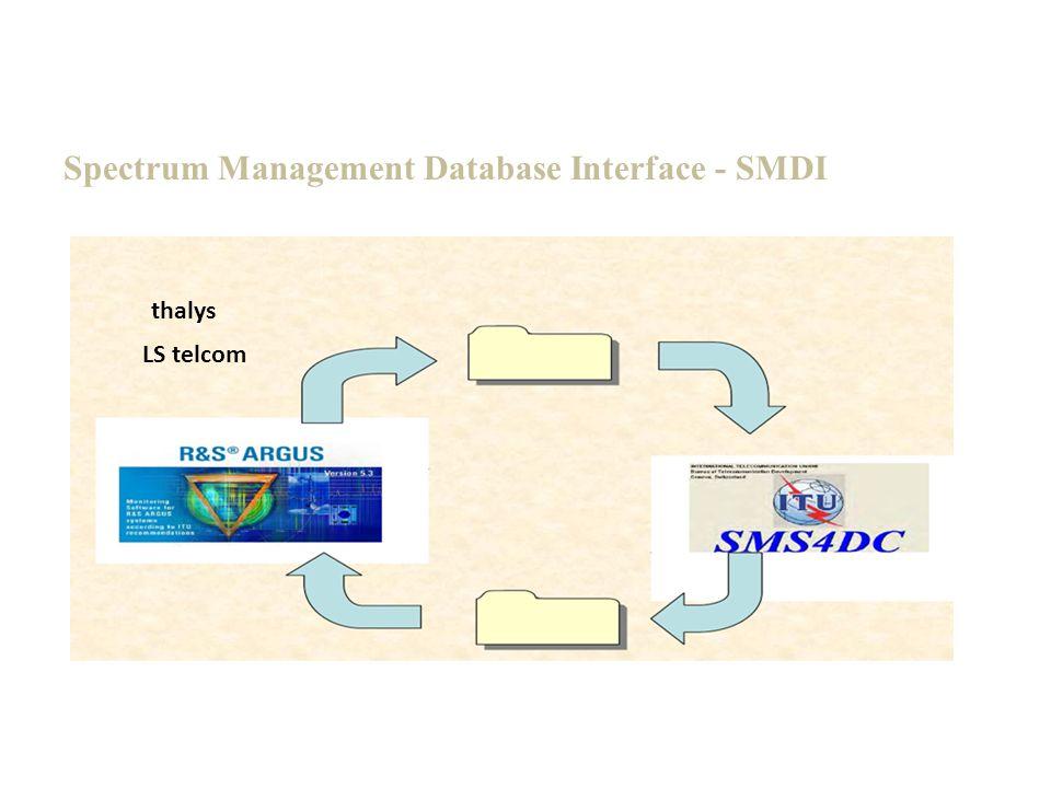 Spectrum Management Database Interface - SMDI LS telcom thalys