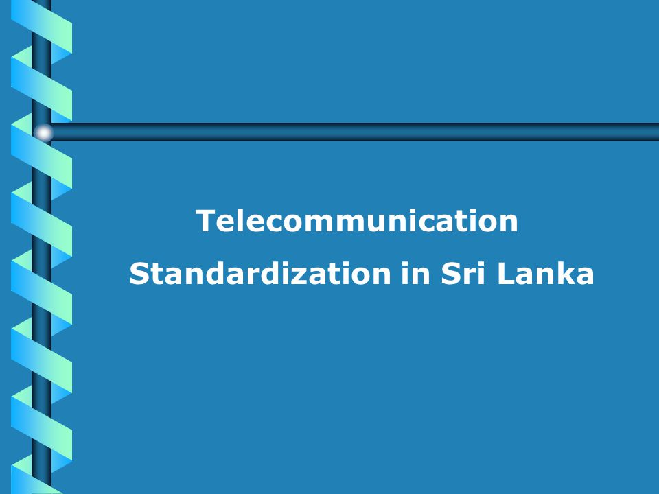 Legal context Sri Lanka Telecommunications Act.