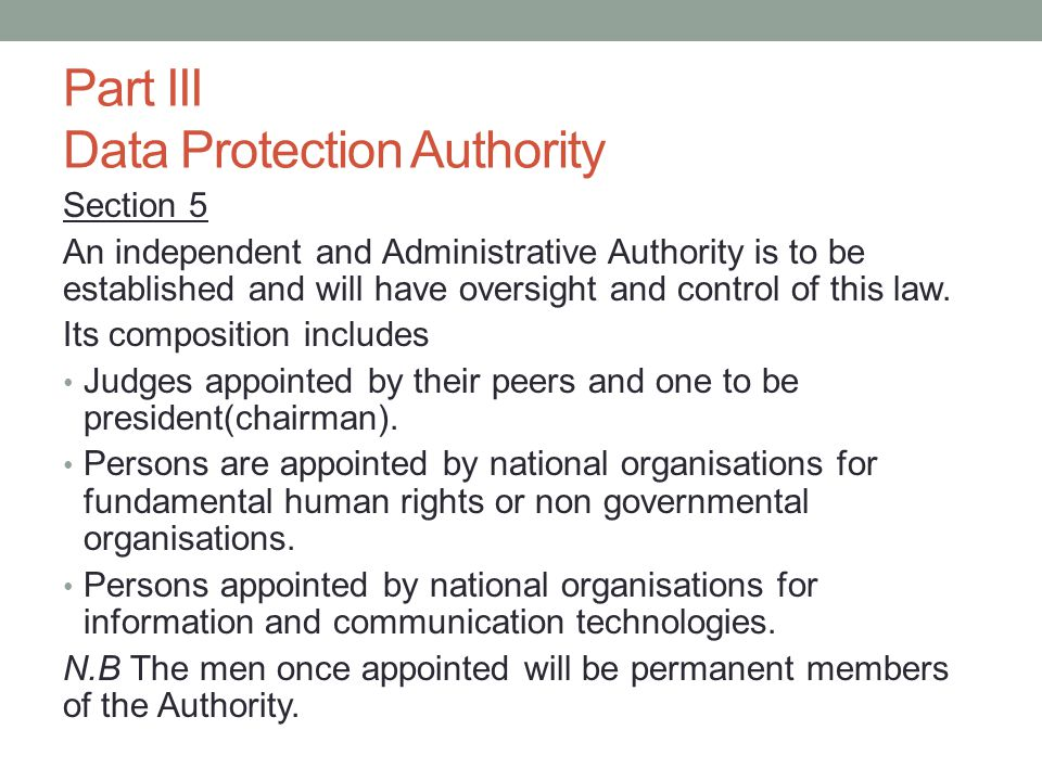 The Authority will have substitute members who will reflect the composition as stated above.