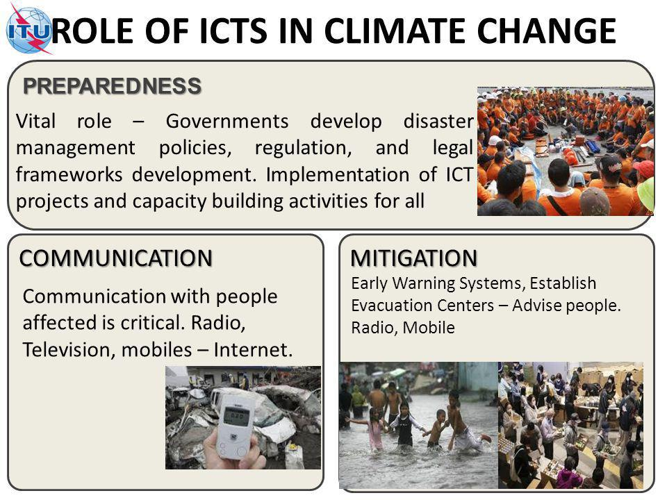 PREPAREDNESS Vital role – Governments develop disaster management policies, regulation, and legal frameworks development.