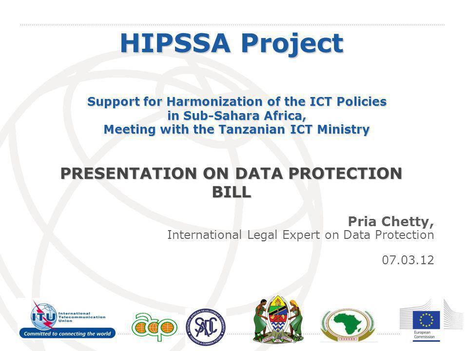 Overview of Session  Why enact Data Protection Law.