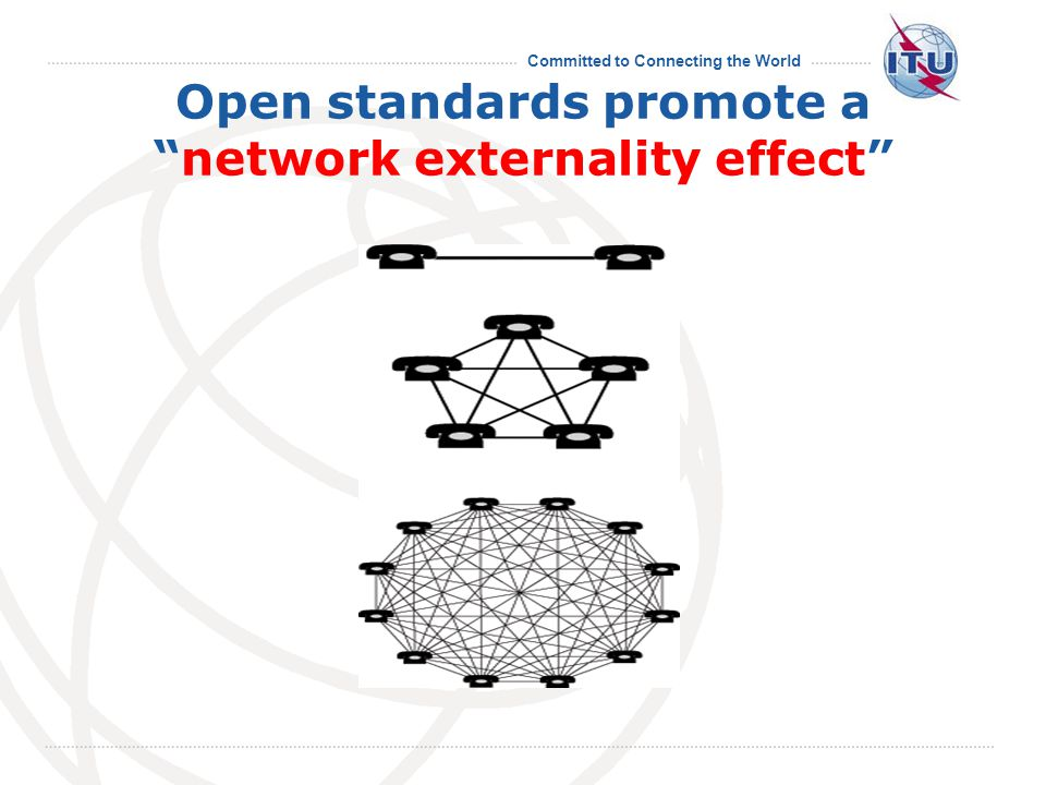 """Committed to Connecting the World Open standards promote a """"network externality effect"""""""
