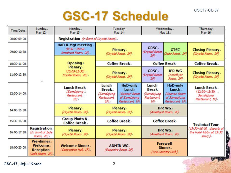 GSC17-CL-37 13 GSC-17 Communiqué Communiqué published in GSC17-CL-36r1